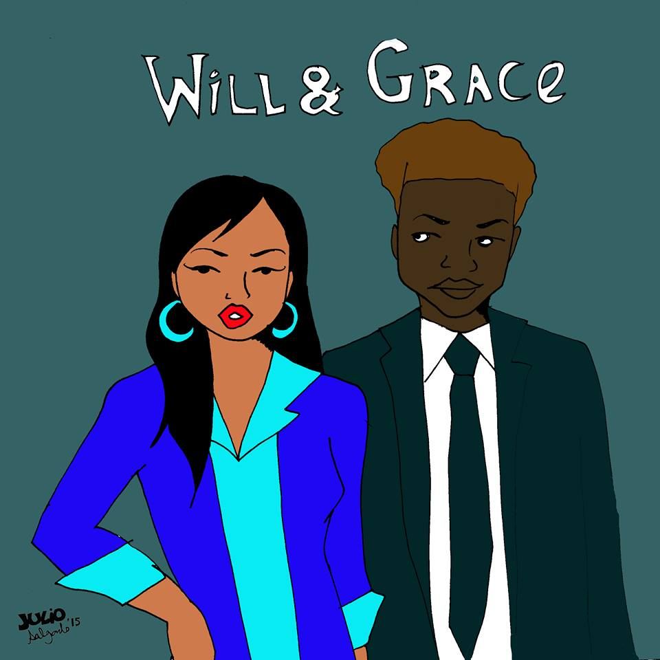 """""""Grace is a Korean-American fashion designer living in San Francisco with her best friend Will, a black gay immigration lawyer."""" -Julio Salgado"""