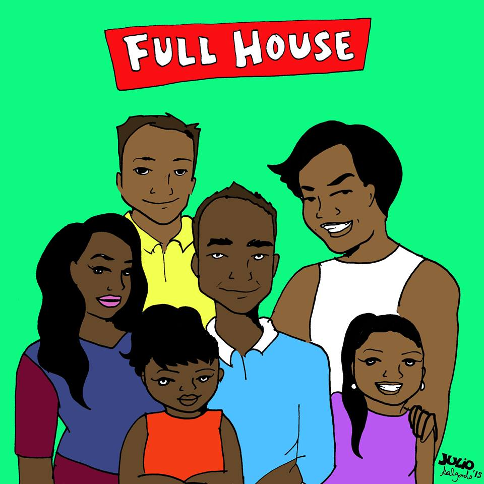 """""""This Full House is a Filipino family and it's set in Daly City. The oldest daughter is undocumented and the youngest two were born in the U.S. Also, uncle Jesse is queer."""" -Julio Salgado"""