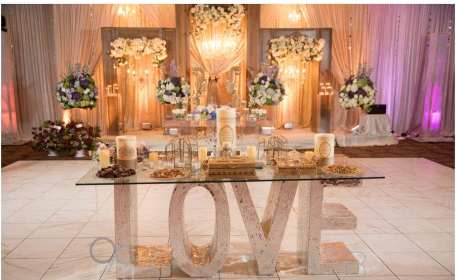 We Make it easy! - Drapery, Linens, Uplight's, Indoor fireworks, Centerpieces, Charivari chairs rentals, Sofas and all your other event needs!