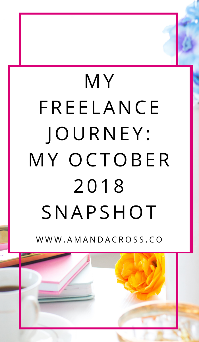 My Freelance Journey: My October 2018 Snapshot | Freelance writing is amazing, and I want to be able to look back at what I've been doing month after month. I decided to start a monthly snapshot of my freelance journey so I always have something to look back on. Here's what I have been doing in October 2018 and what I have to look forward to in November 2018.