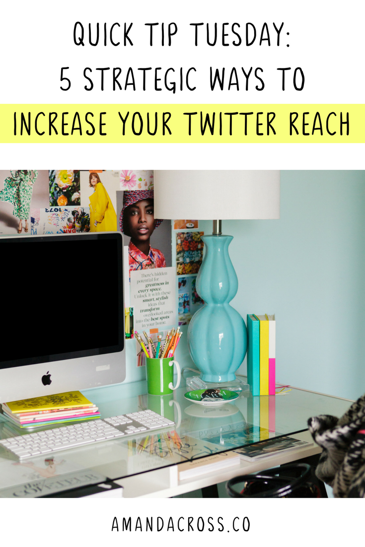 Quick Tip Tuesday: 5 Strategic Ways To Increase Your Twitter Reach | Increasing the reach of your Twitter profile is crucial, but how do you get your tweets seen by more people? Click through for five strategic ways to increase your Twitter reach!