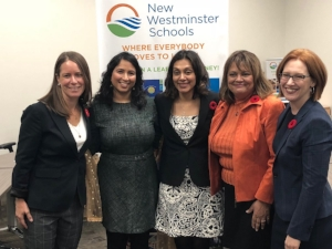 Group shot of the new trustees! Danielle Connelly, me, Anita Ansari, Dee Beattie and Maya Russell
