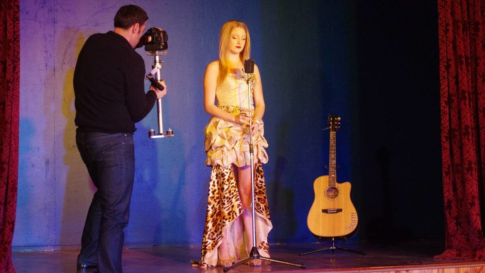 Sami Cooke strikes a pose for her latest music video, which was filmed locally by Dean Kinlyside of Neon Media.