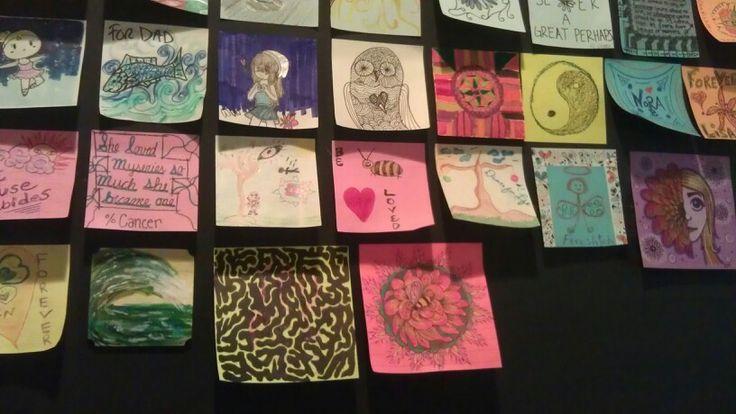 post-it note art