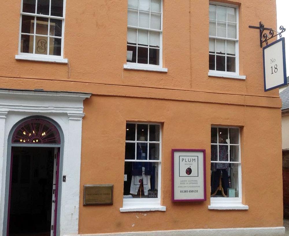 Plum Boutique - 18 Castle StCirencesterGloucestershire GL7 1QHTel: 01285 650132