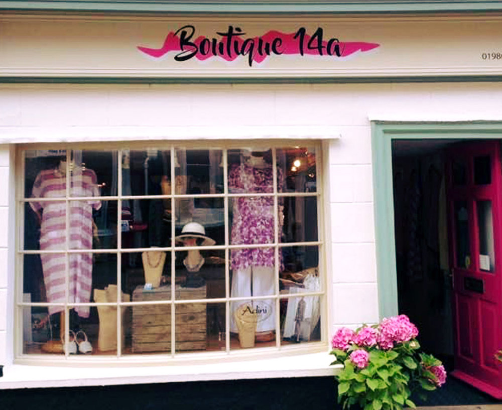Boutique 14a - 14a ThoroughfareHalesworthSuffolk IP19 8AHTel: 01986 872923