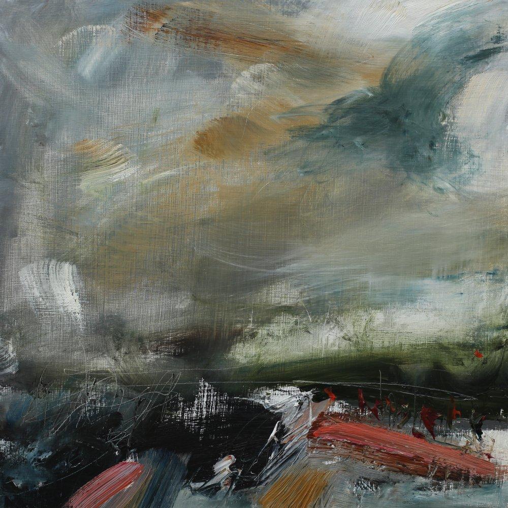Solitude, oil on wood panel, 30 x 30cm