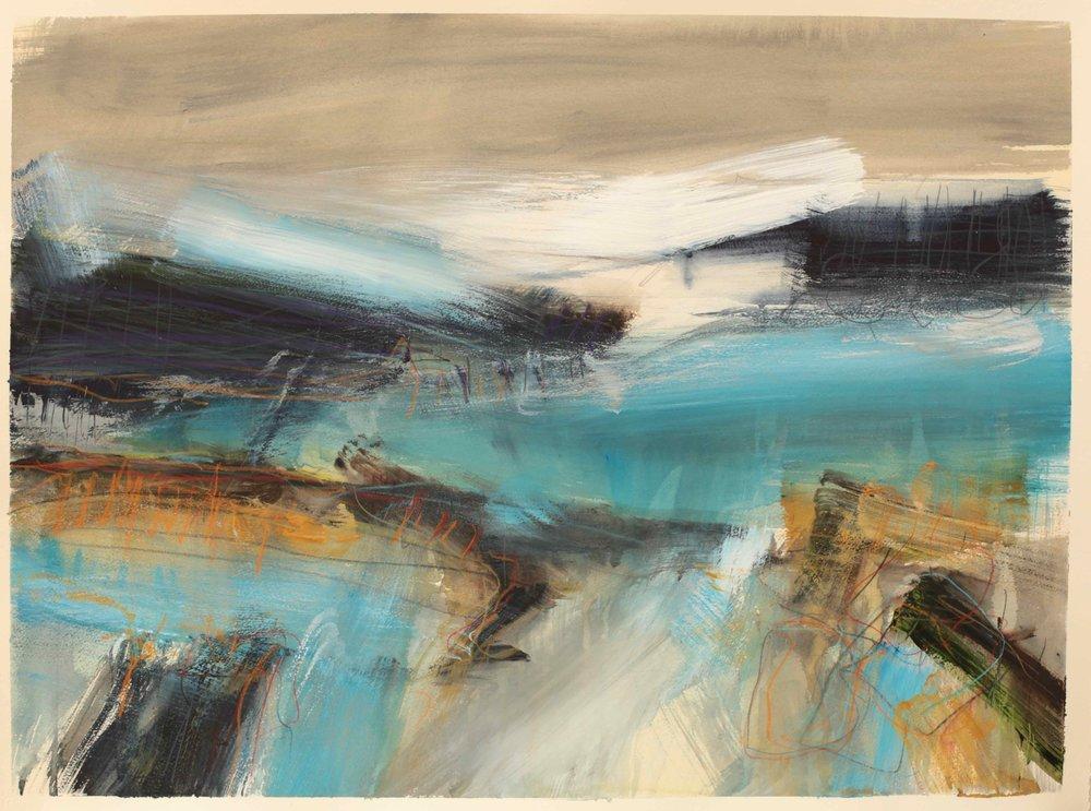 Tidal pools, watercolour, 60 x 84cm
