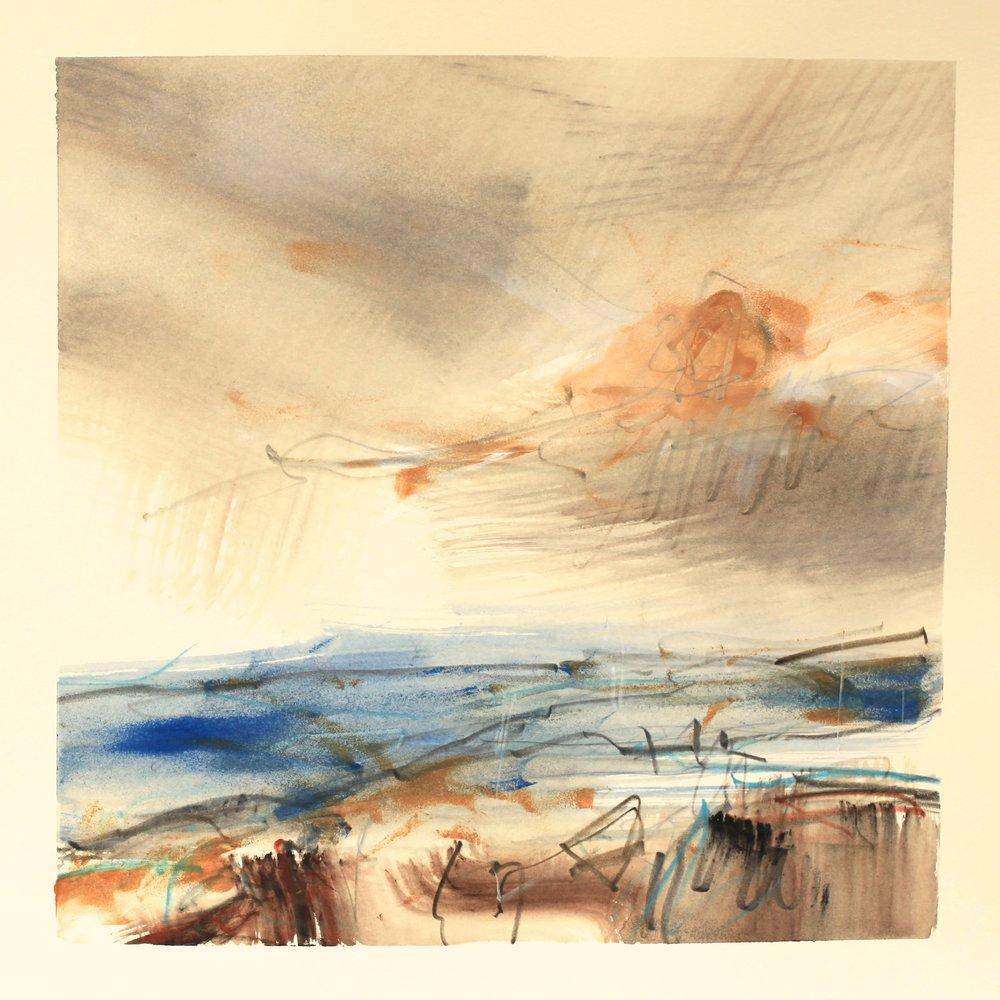 Turning tide, watercolour, 28 x 28cm