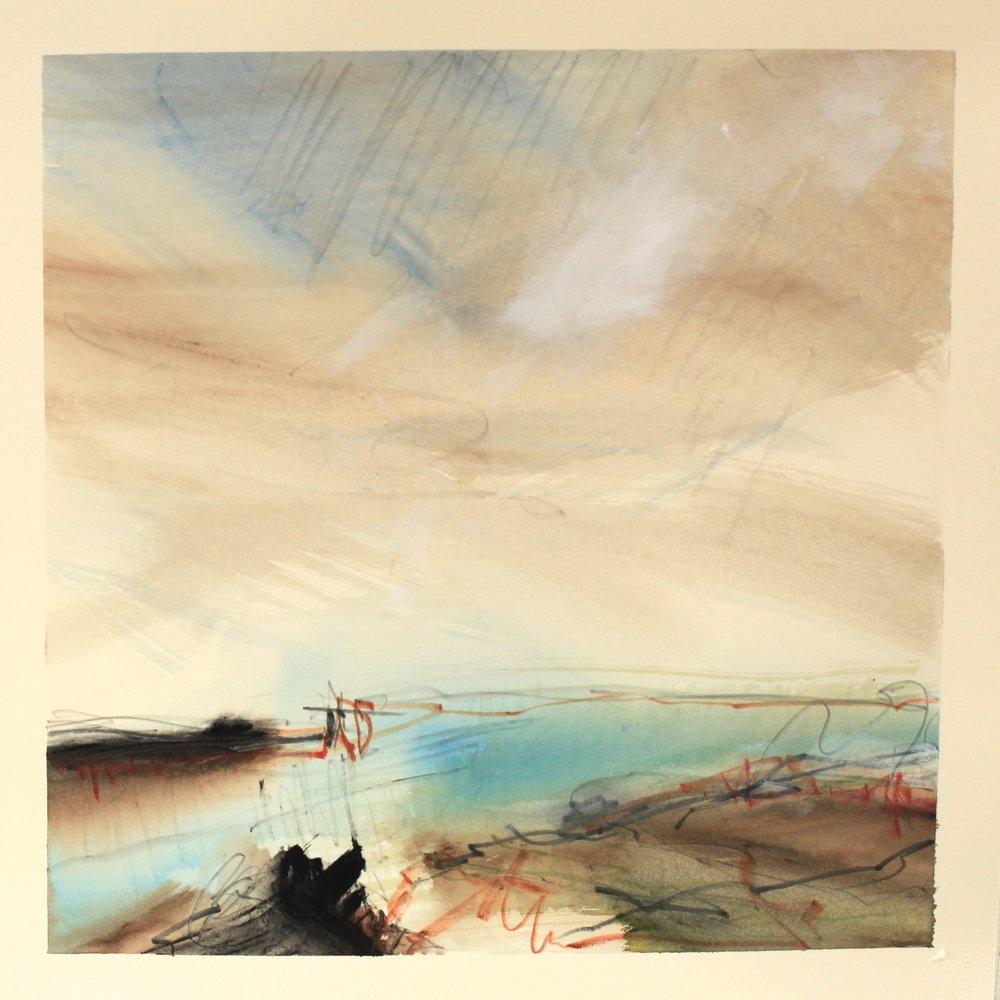 Clear water, watercolour, 28 x 28cm