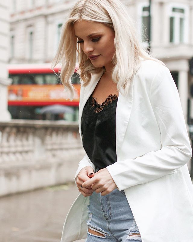 @keepingupwithkirby in our white tailored blazer