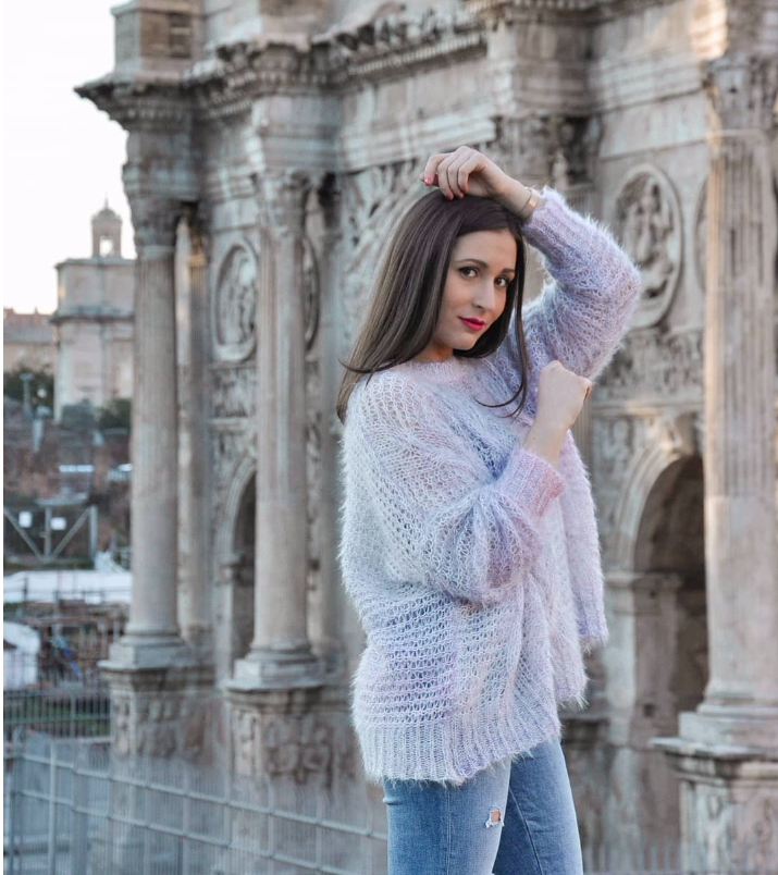 @chiarazaratti in our Logan Knit