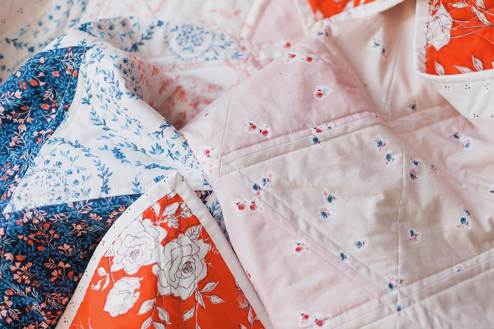 Seriously—the fabrics in this line are just so DREAMY! I am in love. This quilt isn't going anywhere.