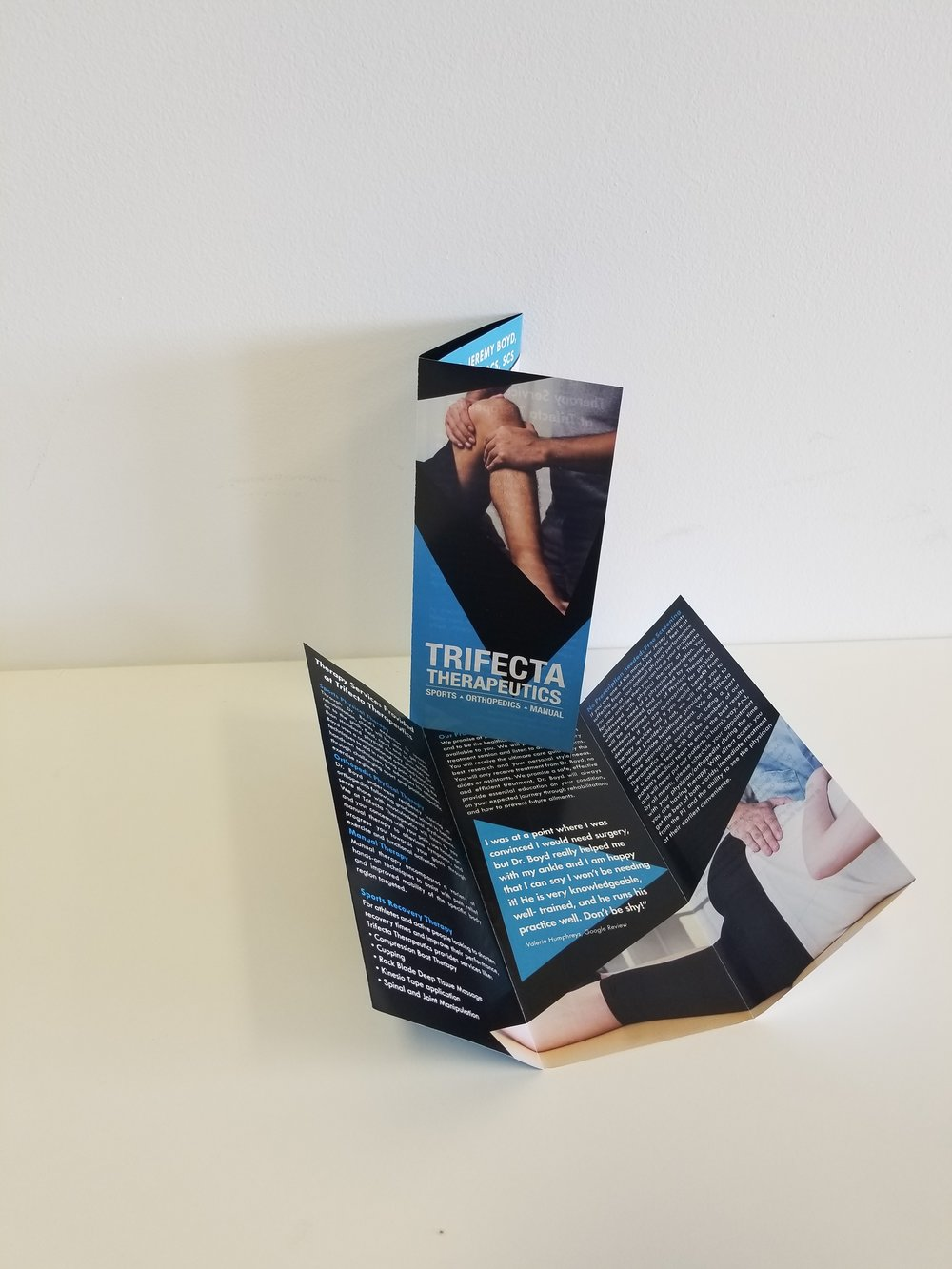 Brochures - Educate your customers & prospects about your services with custom brochures!Featured Client: Trifecta Therapeutics