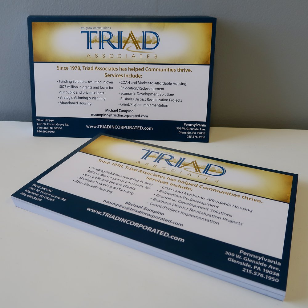 Postcards - An essential guerrilla marketing tool. Spread the word about special deals, events or new product/service announcements!Featured Client: Triad Associates