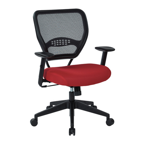 Quick Overview   Space It- This Professional AirGrid Back Managers Chair features seat height adjustment, synchro-tilt, tilt tension, height adjustable arms, and tilt lock. The chair comes in a mesh back and a thickly padded mesh seat. The mesh back features built-in lumbar support to help you relax. Available in five different colors.