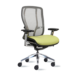 9to5 Vesta Mid-Back Chair with Mesh Back and Upholstered Seats   $635