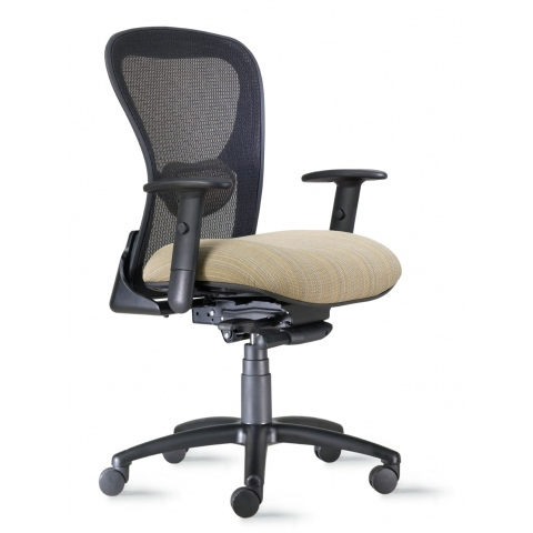 9to5 Strata Mid-Back Heavy Duty Task Chair with Black Accents  $384