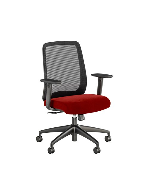 Quick Overview   Bolton, a full featured task chair has the versatility to fit any space. From the executive office to the front office, Bolton provides comfort and elegance with its thoughtful design and upholstery options. Offered in high-back, mid-back and stool versions, Bolton is highly versatile allowing users to choose the right configuration for their size, shape and tasks at hand. Adjustable seat height, optional adjustable lumbar support, arm adjustability, tilt tension adjustment and back lock allow the user to fine-tune Bolton to their personal preference. A head rest option is available for the high back version.