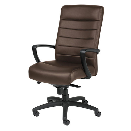 Quick Overview   For comfort, durability, and minimalist style, the Manchester features oversized molded foam cushions in black or brown leather with fine-tailored stitching. The chair offers leather padded armrests, waterfall seat with pneumatic height adjustment, knee-tilt mechanism, tilt tension control and steel substructure for enhanced strength.