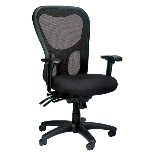 Quick Overview   The Apollo is a perennial favorite, combining value, comfort, adjustability and quality, and featuring a breathable, color-coordinated mesh back that matches the comfortably contoured and padded waterfall seat.