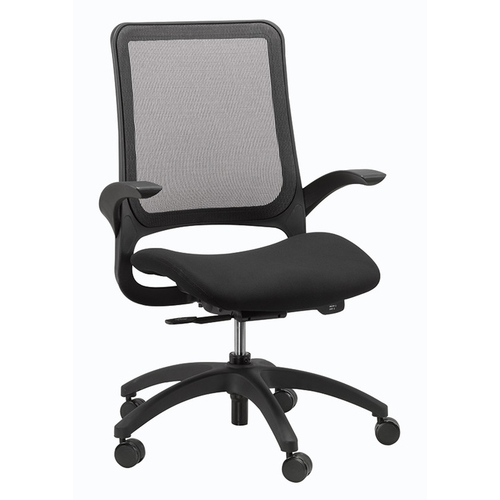 Quick Overview   A study in the concept that less is more, the Hawk compliments any workspace with its understated elegance. This chair features a comfortable mesh back for flexibility and breathability. A weight activated mechanism responds to your unique individual needs to provide comfort and support throughout the entire workday.