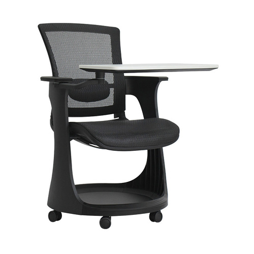 Quick Overview   Practically an office on wheels, the Eduskate was designed as a personal work space for learning. Delivering both comfort and support, it has no hard edges or right angles to deliver an approachable, contemporary look and feel. A mesh back and mesh waterfall seat keep students cool, comfortable and attentive throughout classroom courses.