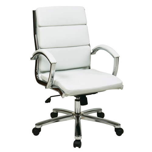 Quick Overview   Executive High Back Mocha Eco Leather Chair with Locking Tilt Control and Two Tone Stitching. Thick Padded Contour Seat and Back with Built-in Lumbar Support. One Touch Pneumatic Seat Height Adjustment. 360° Seat Swivel. Locking Tilt Control with Adjustable Tilt Tension. Padded Loop Arms. Eco Leather: Mocha with Two Tone Stitching. Heavy Duty Nylon Base with Dual Wheel Carpet Casters.