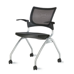 9to5 Bella Mesh Back Nesting Chair with Casters   367.00