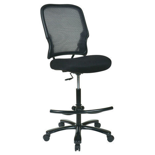 OFD Double Air Grid Back Drafting Stool with Black Mesh Seat   $595