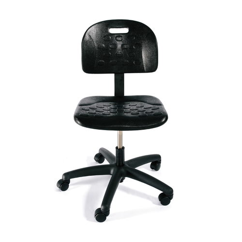 Quick Overview   Stools specifically designed for manufacturing and industrial environments. Contoured polyurethane backrest and seat together with a manual back height adjustment make these stools essential for heavy-duty work.