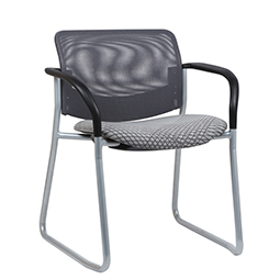 Quick Overview   This Shuttle Guest Chair features a plastic back and plastic seat.