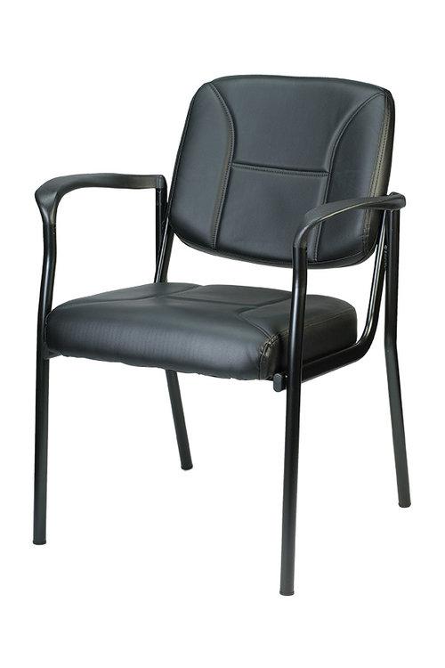 Quick Overview   Soft Black vinyl guest chair