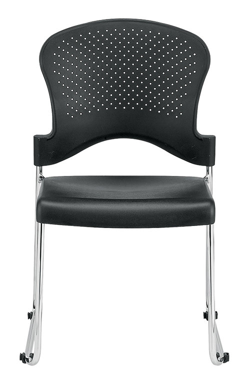 Quick Overview   Stack chair with poly back. Sold in cartons of 4 chairs.