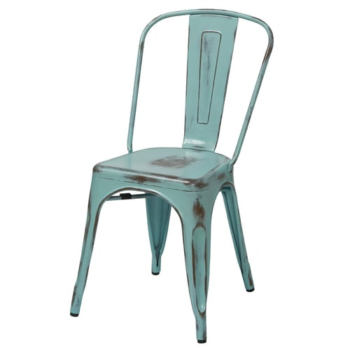 Quick Overview   Accent It- The OFD Antique Chair is finished with an antique patina and conveniently available in a variety of colors. This chair is built to withstand the wear and tear of everyday use. Whether your home decor style is chic and industrial, youthful and eclectic, or bold and rustic, this chair makes for an alluring addition with a touch of robustness though its eye-catching distressed finish that features slight surface abrasions which provide for a cozy weathered and worn-in feel.