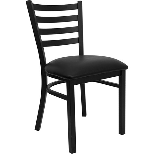 Quick Overview   Cafe it – Black Ladder Back Metal Chair