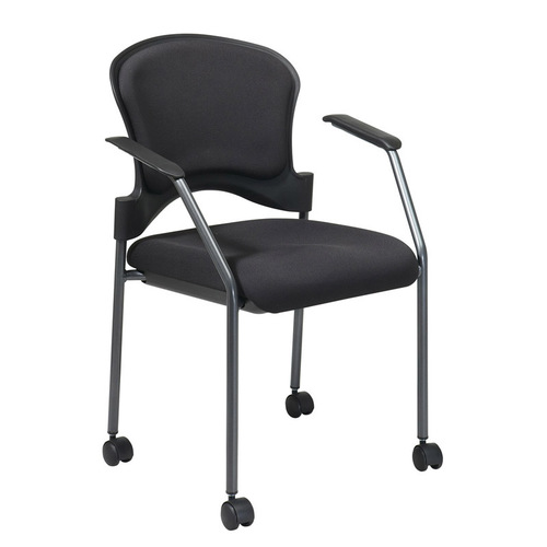 OFD Titanium Finish Visitors Chair with Arms   $205