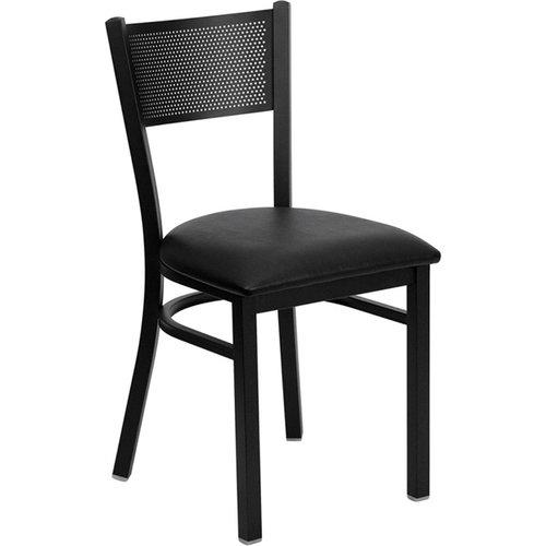 OFD Cafe Black Grid Metal Chair   $295