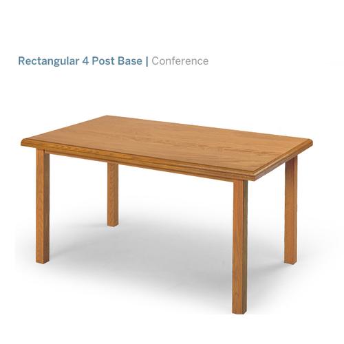 "Lesro 4 Post Base 48"" Rectangular Table   623.00"