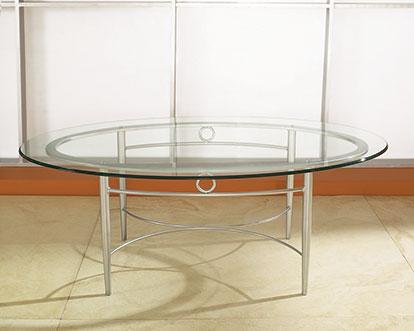COE Malibu Oval Coffee Glass Table   425.00