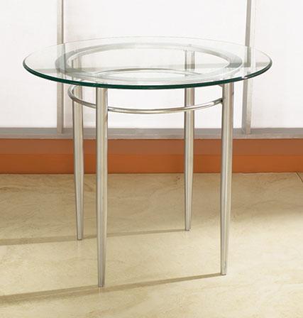 COE Malibu Glass Round End Table   325.00