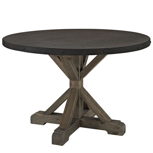 Modway Stitch Round Wood Top Dining Table   831.00