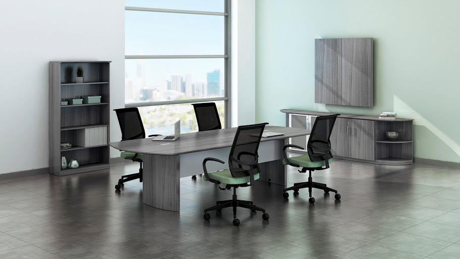 Quick Overview   The Medina laminate conference room furniture features elegant lines with excellent durability, while offering plenty of opportunity for interaction and engagement. Perfect complement to most any décor.