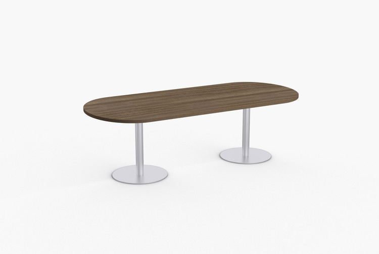 """Quick Overview   SpecialT table tops are nominal 1-1/4"""" thick. Core is 1-1/8"""" thick 45# M3 industrial strengthdensity particle board. The top surface is laminated with High Pressure Laminate (HPL) and thebottom is covered with a balance backer. Standard edge is 3mm PVC."""