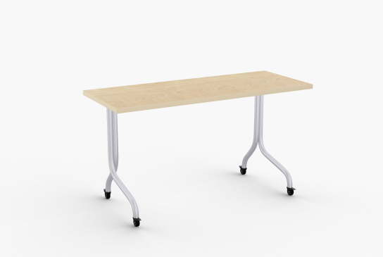 """Quick Overview   Convertible-C features the samespace efficiency as our regularConvertible but with the addedconvenience of a permanentlymounted steel modesty panel. Eachtable takes up only 4.5"""" per tablewhen nested. It is simple to use andrequires only one person to flip thetop. Heavy duty beam prevents topfrom sagging."""