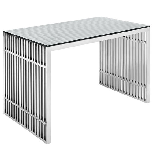 Modway Gridiron Stainless Steel Office Desk   769.00