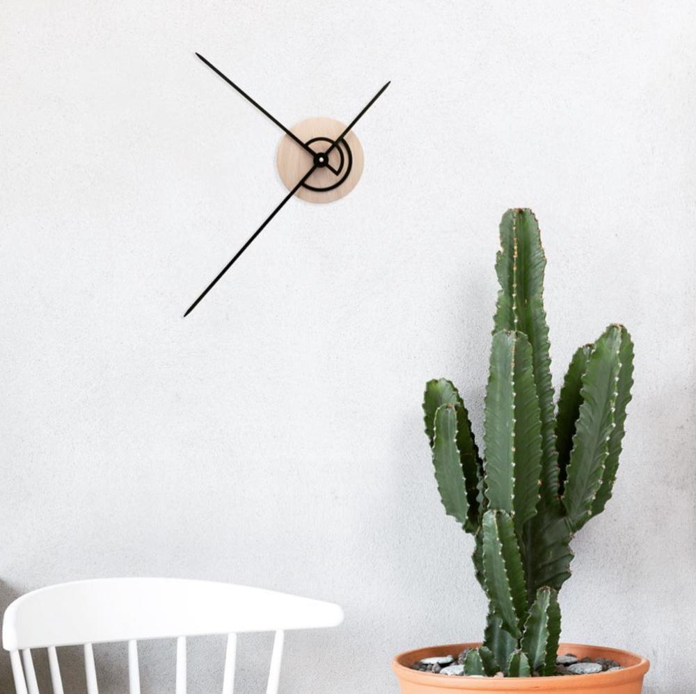 OWB03_Phei Wall Clock_Oak Wood & Black_Lifestyle Image.png