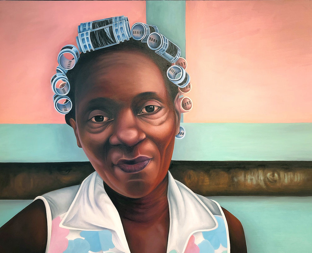 """Makzene Rayan"" -  Mujeres de Providencia  - Oil on Canvas - 60 inches X 48 inches - Price Upon Request"
