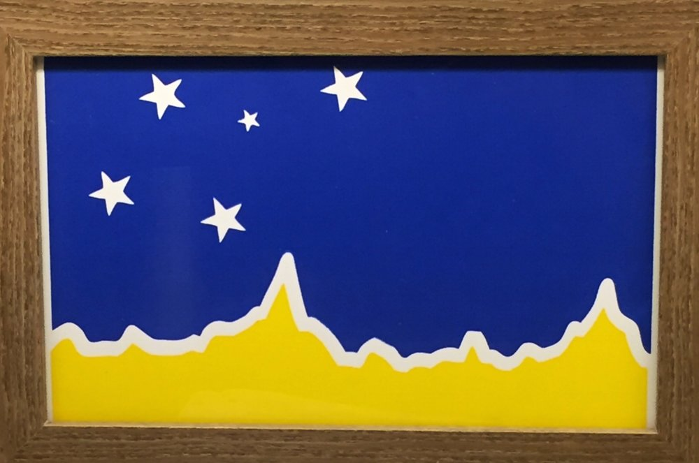 The Print - Modeled after the magallanes flag, the silkscreen print constructs the mountain range from the trek's elevation