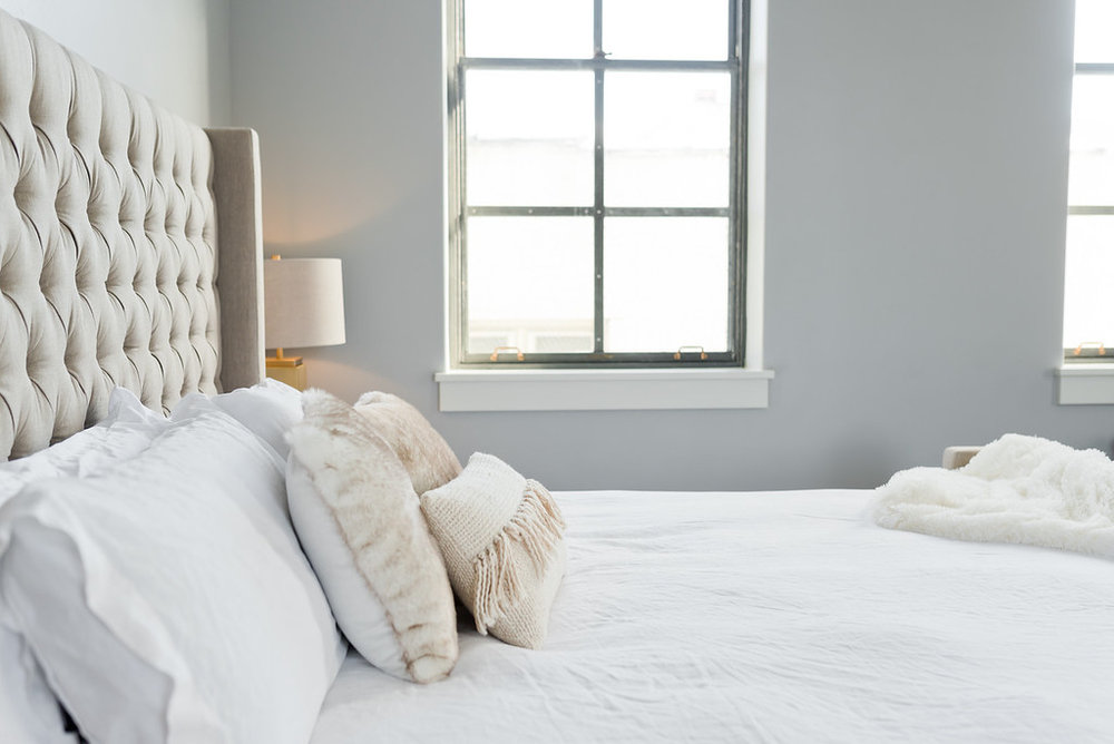 MALOUF PRODUCTS - All the beds in the Flats are dressed with MALOUF linens, allowing guests to experience firsthand the innovation and quality of MALOUF sleep products.